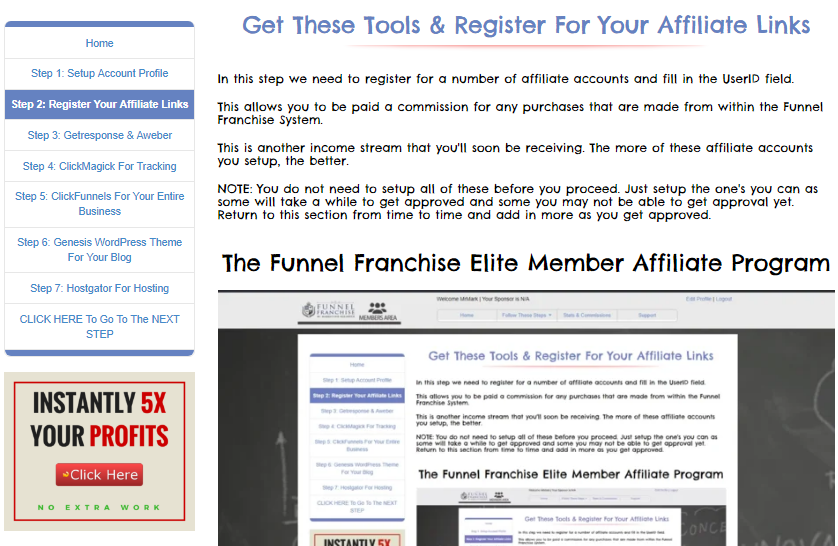 FUNNEL FRANCHISE  REVIEW BUY GENA BABAK - HOW TO SET UP THE SYSTEM