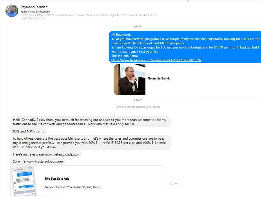 Contact solo ad vendor and ask him questions