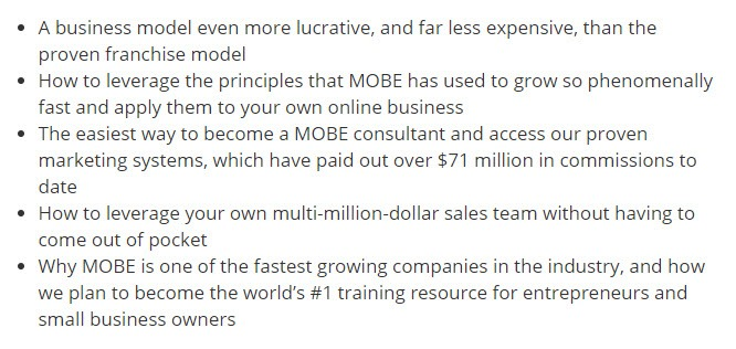 Discover MOBE Business Model and Marketing System