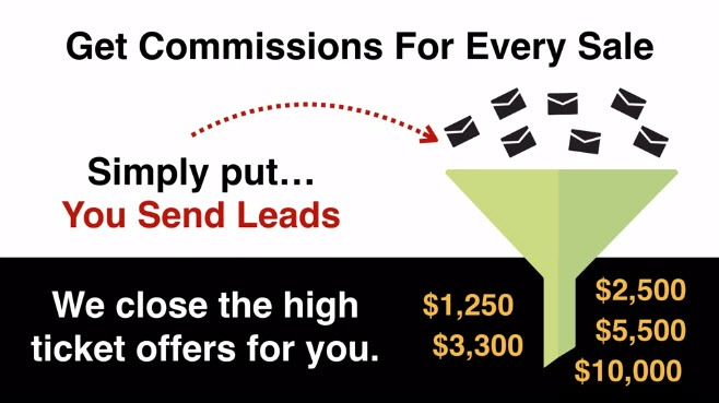 Get MOBE commissions on every sales generating more leads
