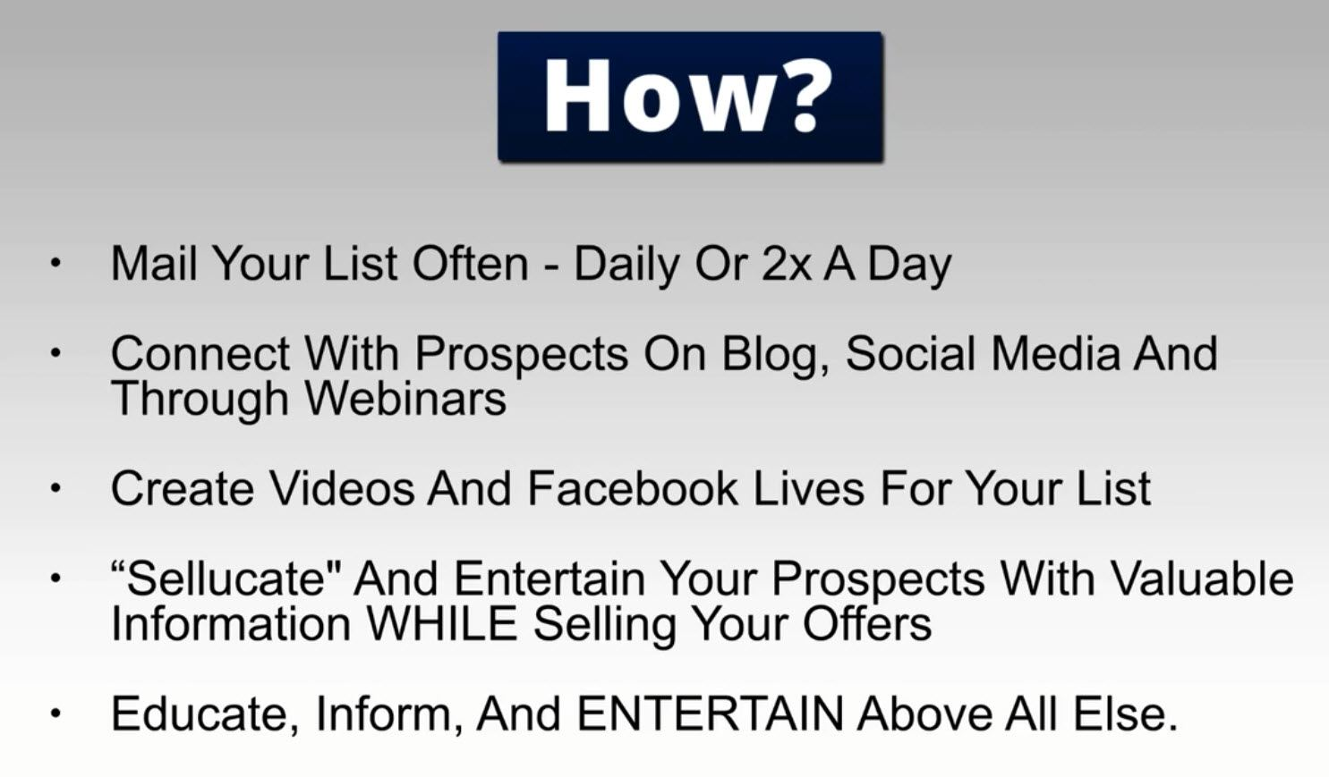How to generate content for your list