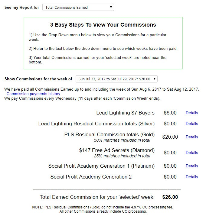 How to view your commissions