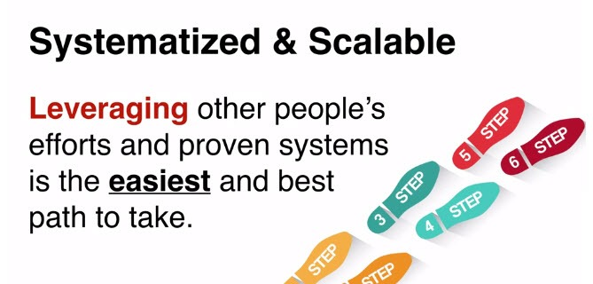 Leveraging other people efforts and proven systems