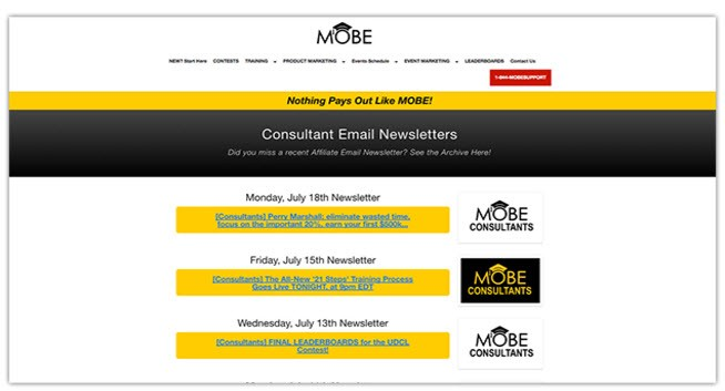MOBE CONSULTANTS EMAIL NEWSLETTERS
