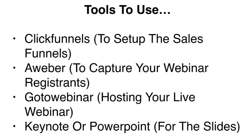 Tools to use for webinar sales funnel