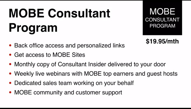 What you will get with your MOBE Consultant Program