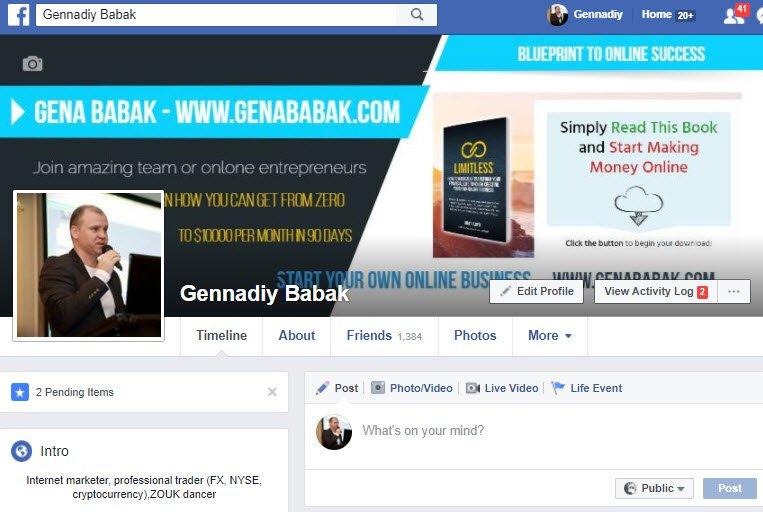 Gena Babak's Facebook Fan Page