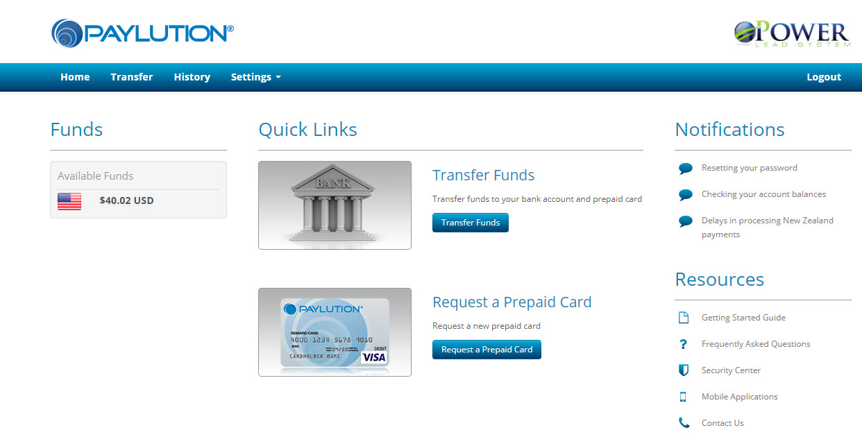 Power Lead System Paylution payments