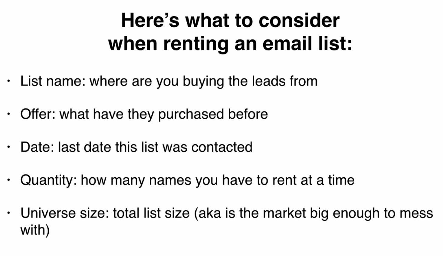 What to consider when renting an email list from Solo Ad vendor