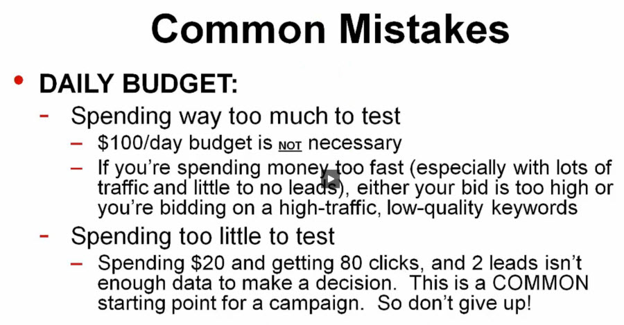 common mistakes with budgeting