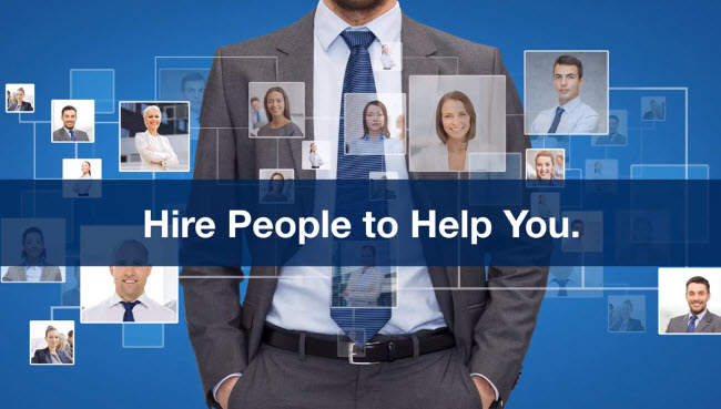 Hire people to help you with online business