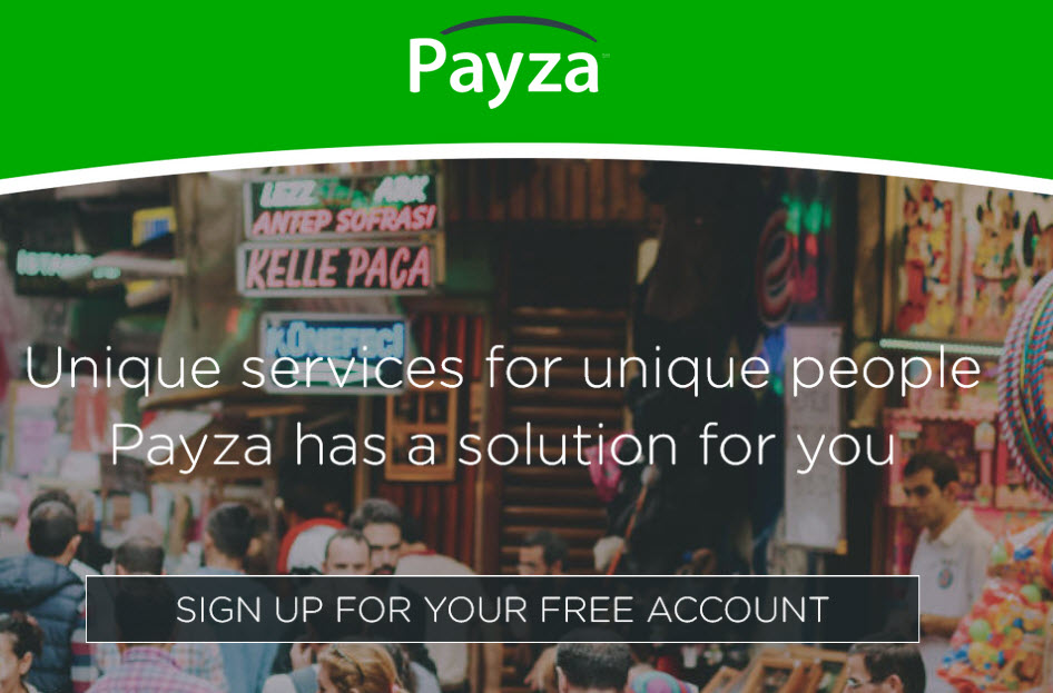 Sighn up for you free payza account