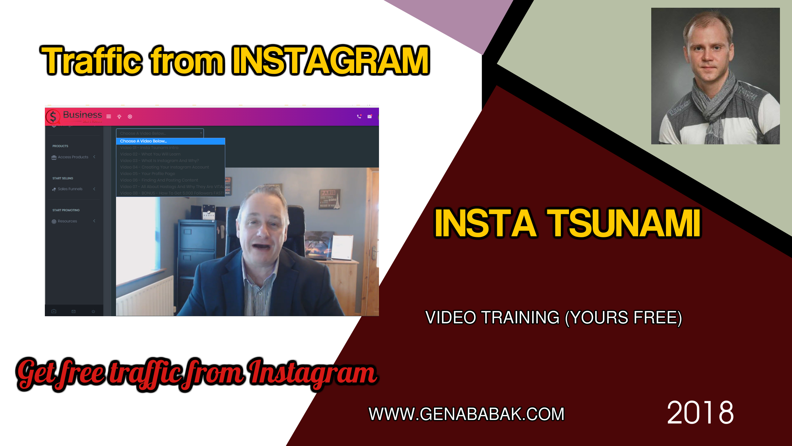 How to drive traffic from Instagram - INSTA TSUNAMI Review