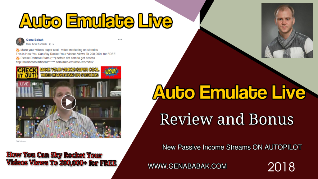 Auto Emulate Live Review and Bonus