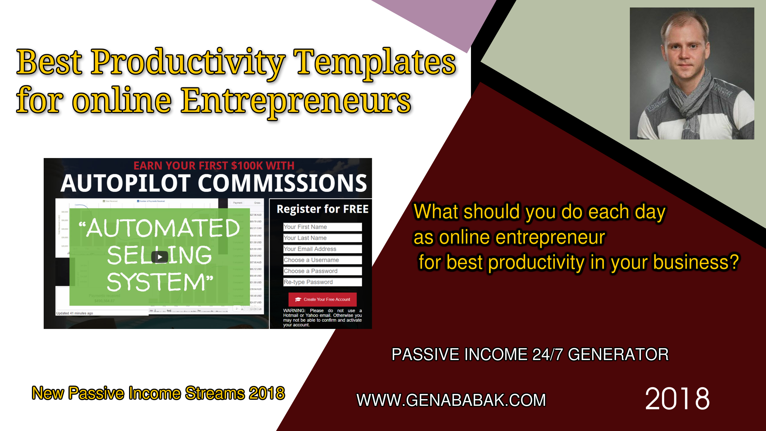 Business Start Ideas - best productivity templates for online entrepreneurs