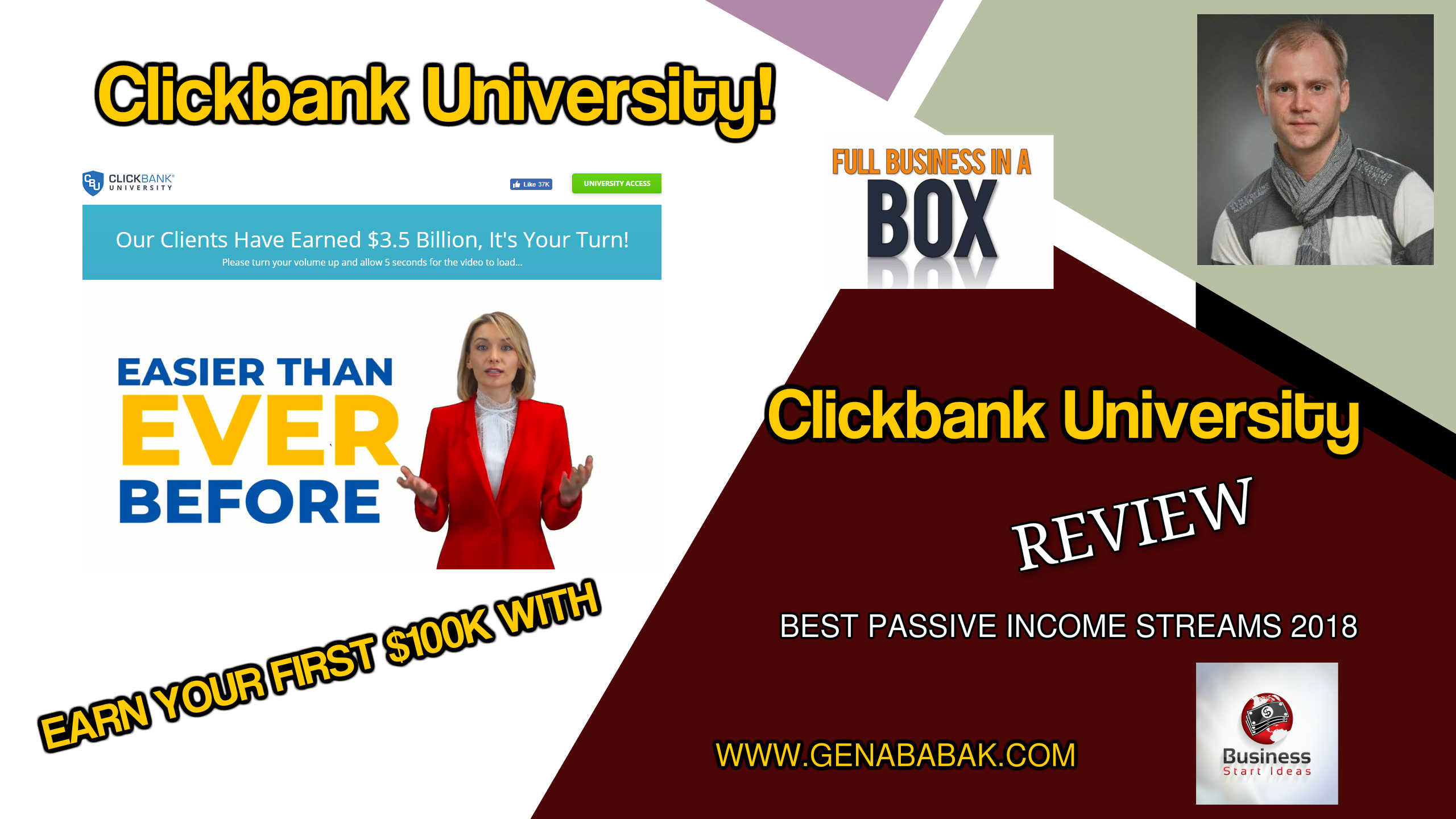 Clickbank University Review 2018 by Gena Babak