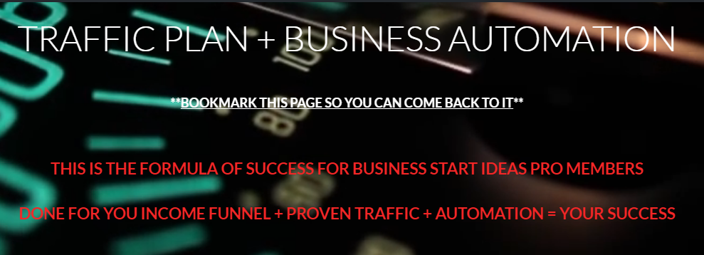 traffic plan and business automation tools for beginners