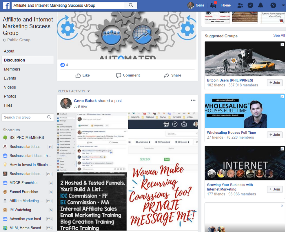 How to post in Facebook Make money online groups