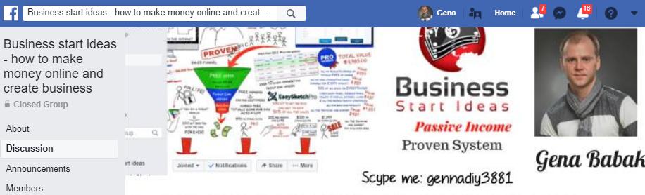 JOIN BUSINESS START IDEAS FACEBOOK GROUP