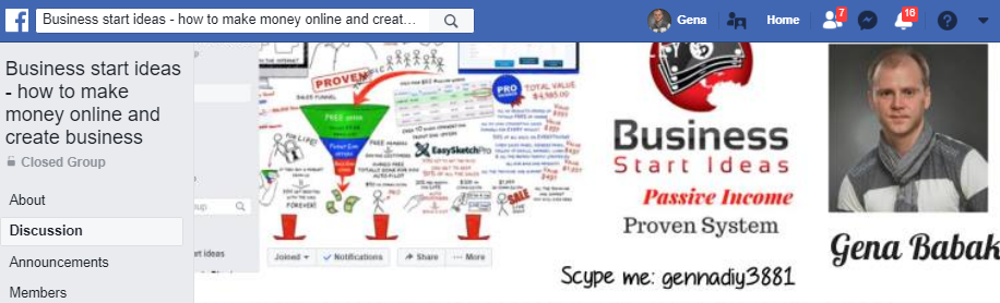 JOIN BUSINESS START IDEAS FACEBOOK GROUP