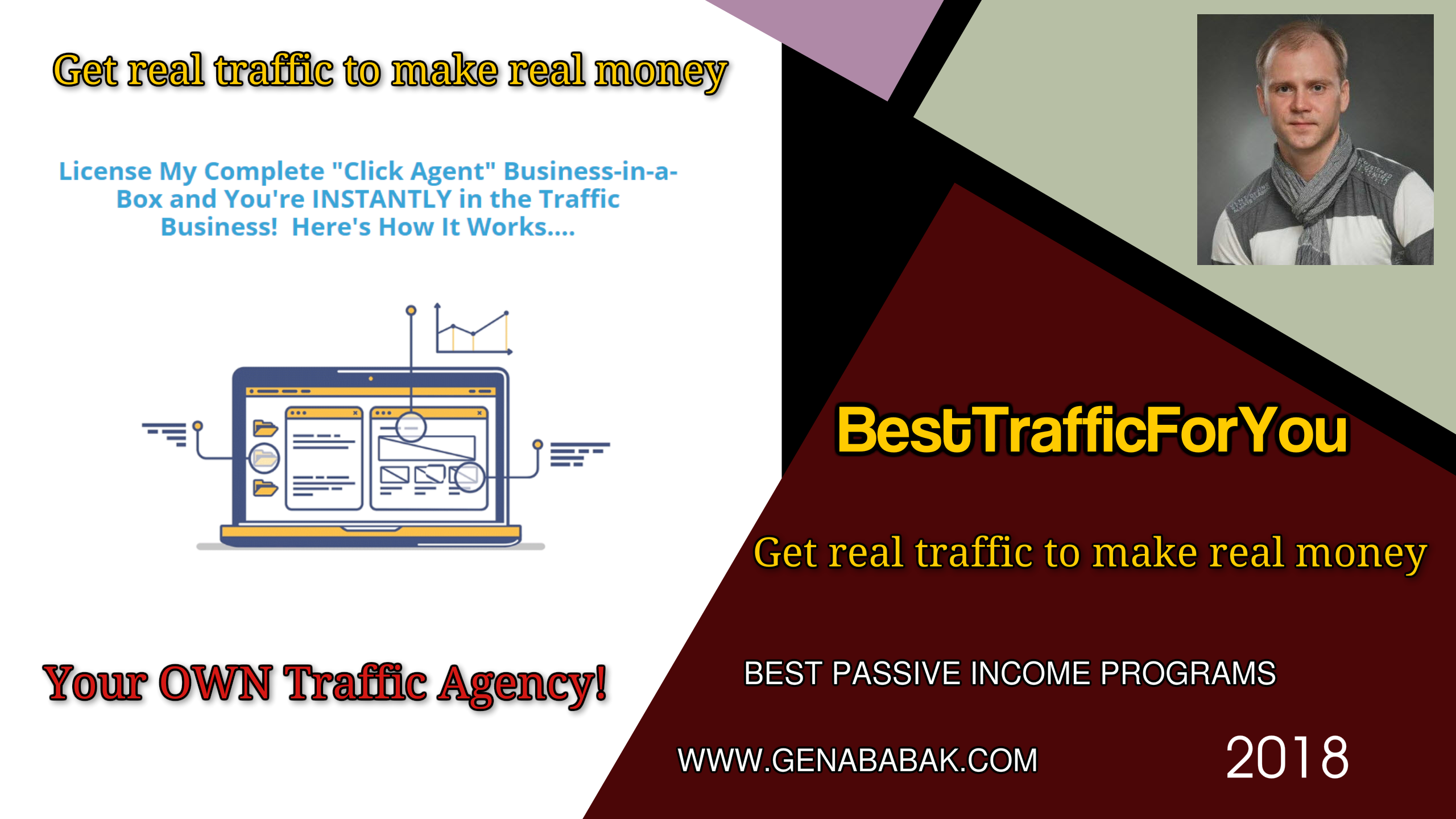 GET YOUR OWN TRAFFIC AGENCY - CLICK AGENCY REVIEW BY GENA BABAK