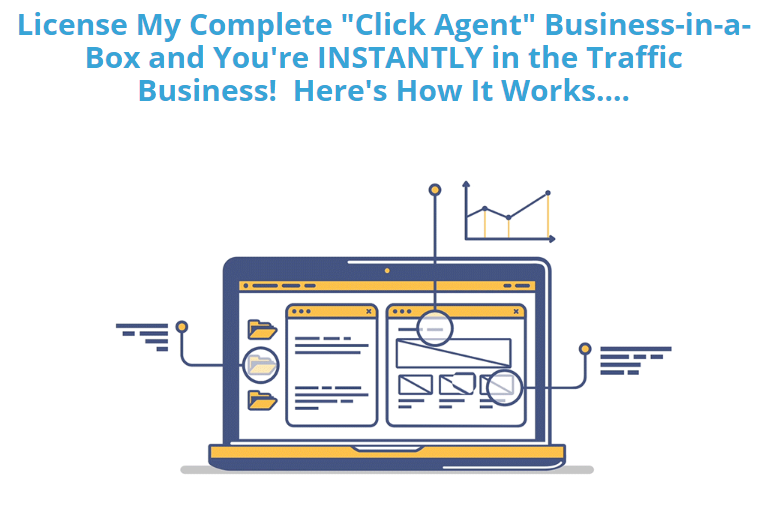 "Become a Click Agent and you can ""piggyback"" on The Click Agency doing all the heavy lifting for you."