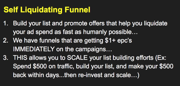 Self-liquidating funnels - is one of the biggest secrets when it comes to building a big Email List.