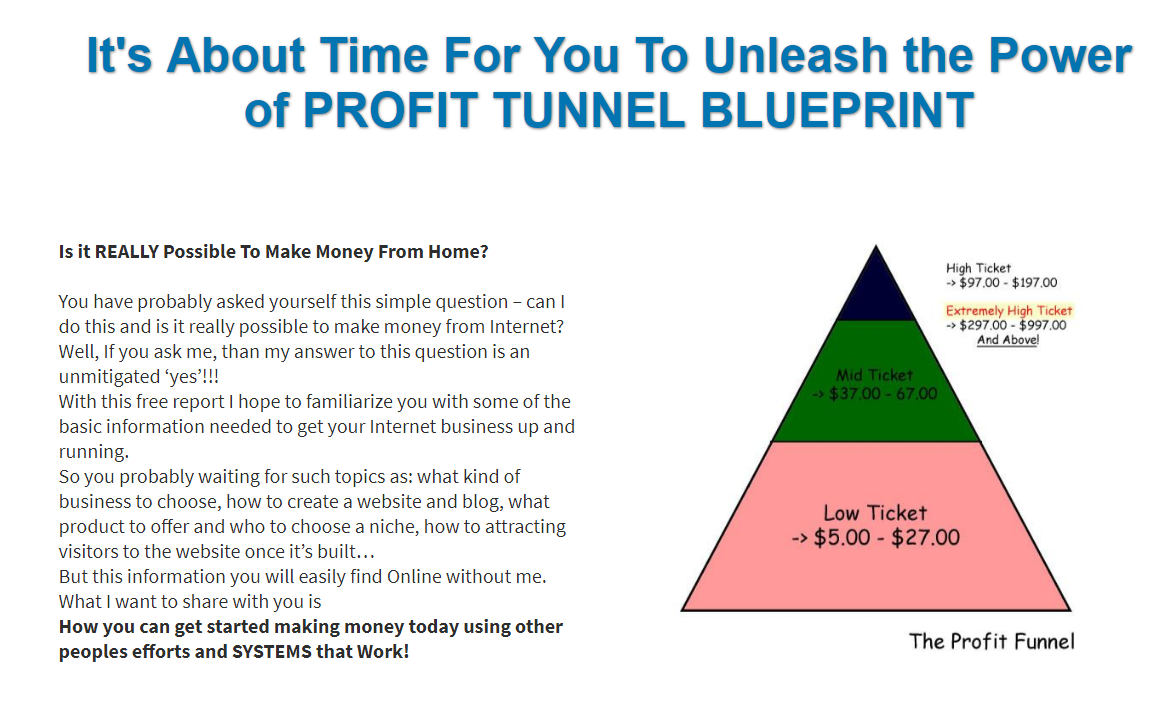 THE POWER OF PROFIT TUNNEL