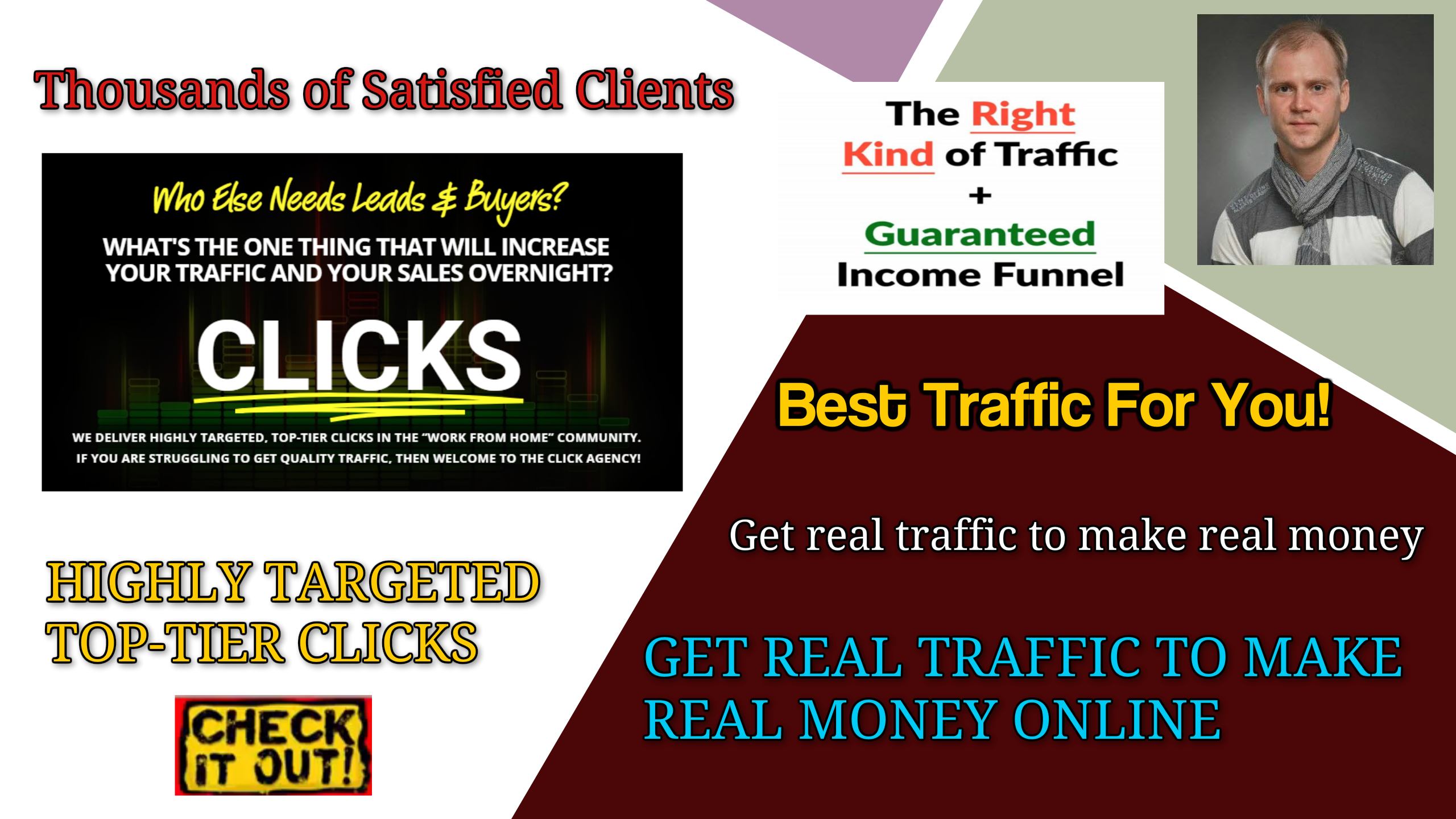 GET REAL TRAFFIC TO MAKE REAL MONEY ONLINE