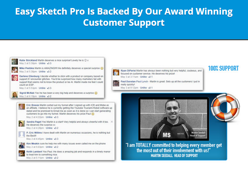 Easy Sketch PTO customer support link