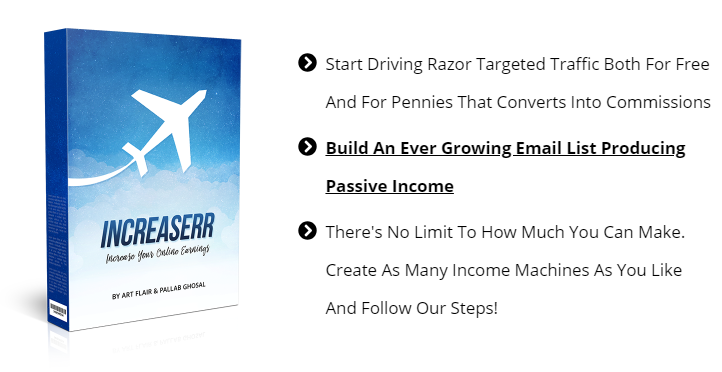 The Increaserr Review  (Art Flair) -  Start Driving Razor Targeted Traffic Both For Free And For Pennies That Converts Into Commissions