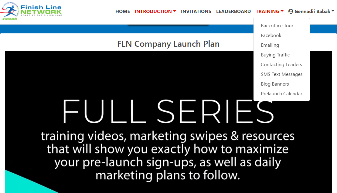 Finish Line Network review by Gena Babak - learn how to promote FNL