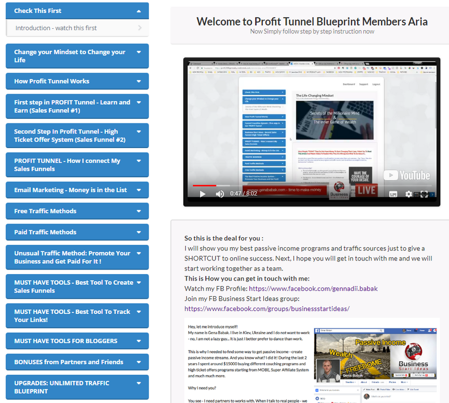 PROFIT TUNNEL BLUEPRINT MEMBERS AREA