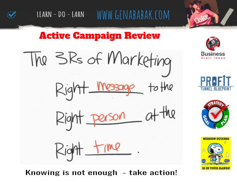 Activecampaign review: send the right message to the right person at the right time