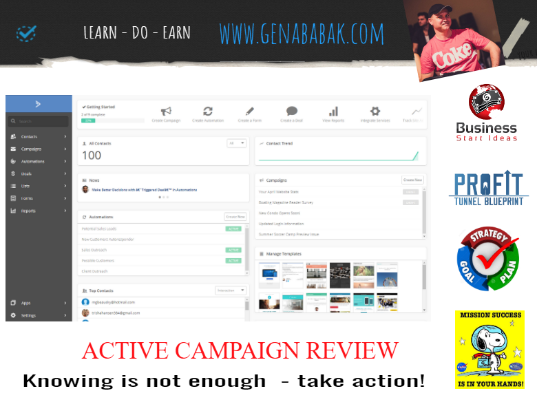 Activecampaign review by GENA BABAK - email marketing automation
