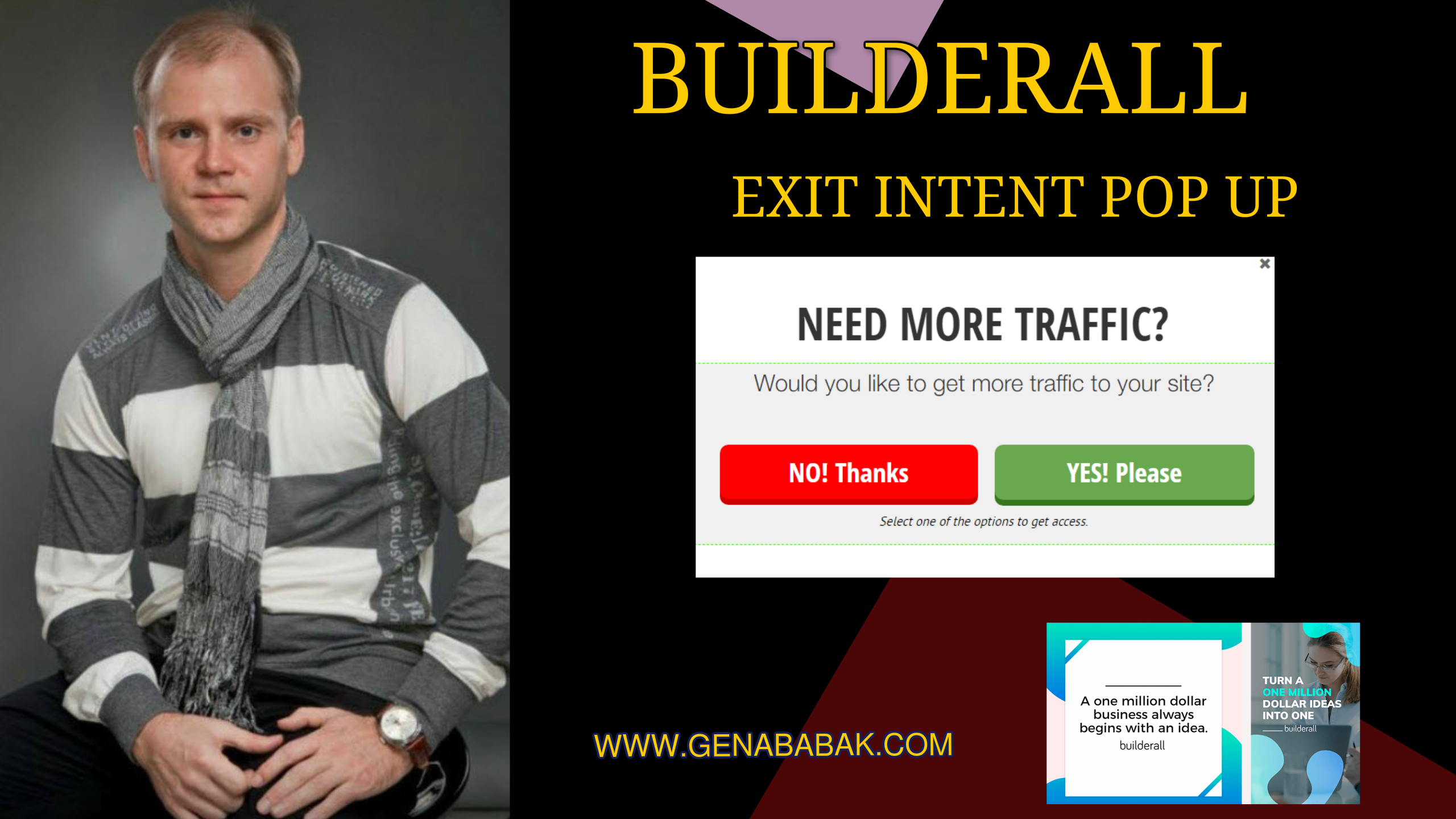 BUILDERALL HOW TO CREATE EXIT INTENT POP UP