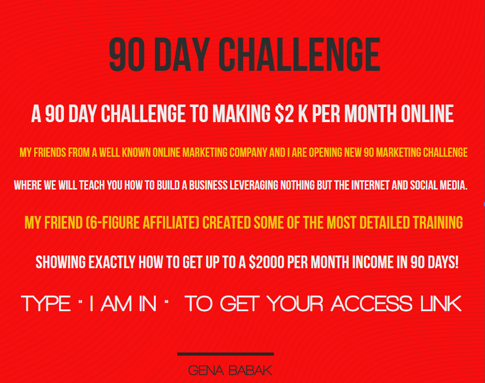 Free Training Reveals: A 90 Day Challenge to Making $2,000 - $4,000 per Month Online