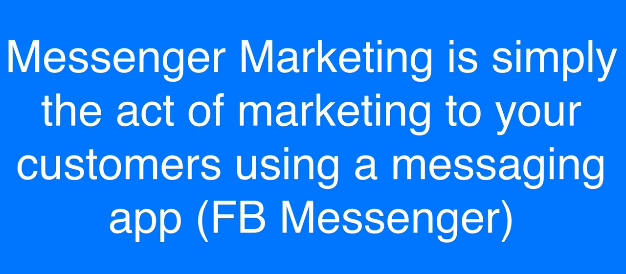 Messenger Marketing: How to use ManyChat in affiliate marketing