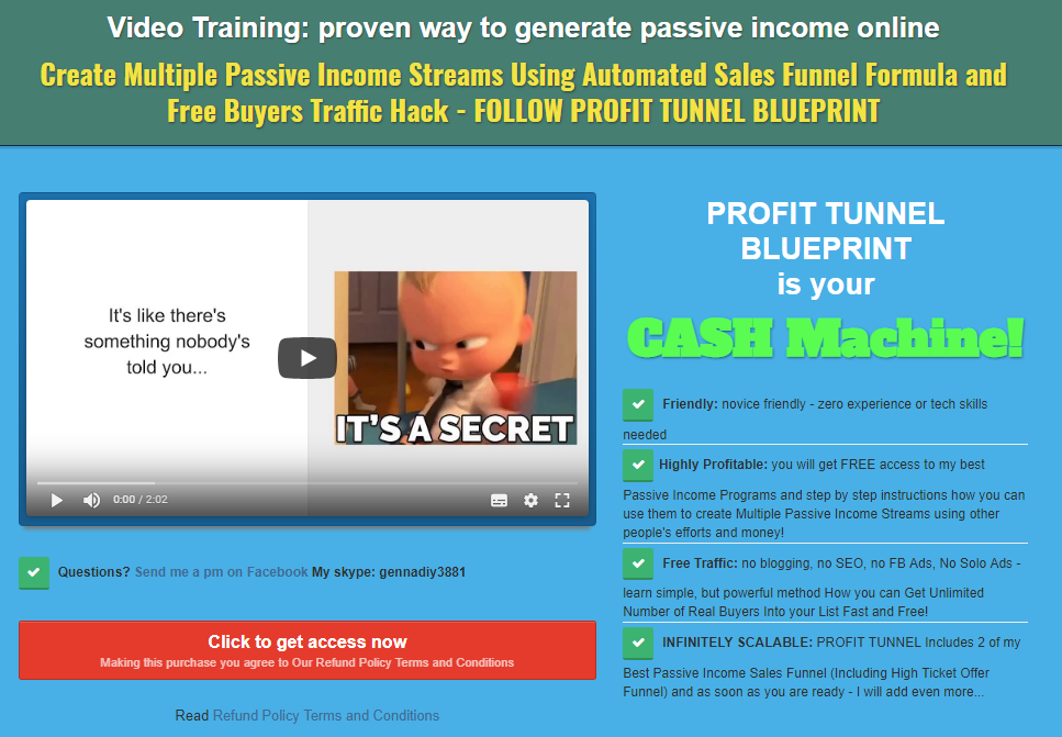 Video Training: proven way to generate passive income online
