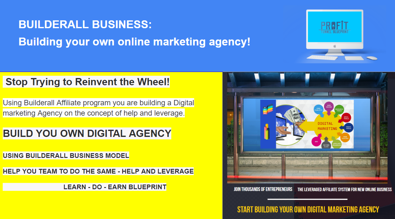 BUILDERALL BUSINESS AFFILIATE: Building your own online marketing agency