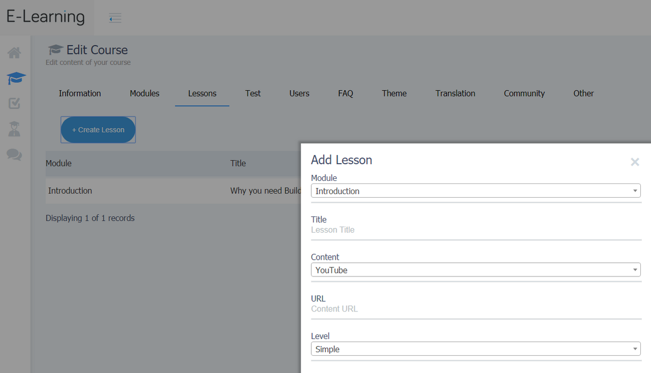 BUILDERALL SITES REVIEW: ADDING YOUR NEW LESSONS