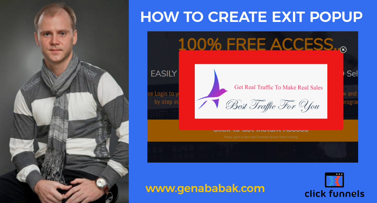 How to create Exit Popup for Clickfunnels Page
