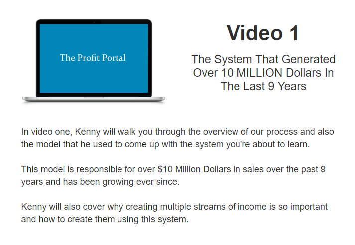 What is inside PROFIT PORTAL - VIDEO 1 - The System That Generated Over 10 MILLION Dollars In The Last 9 Years