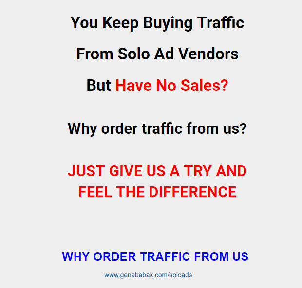 GENA BABAK SOLO ADS - best solo ads traffic that works