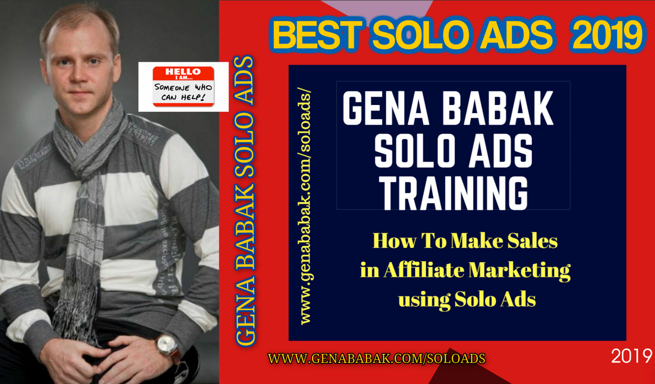 Gena Babak Solo Ads Training - How you can make money in affiliate marketing using Solo Ads Traffic