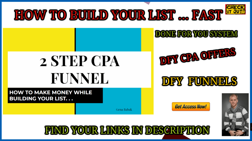 How To Build an Email List Faster using CPA Funnel for Email List Building