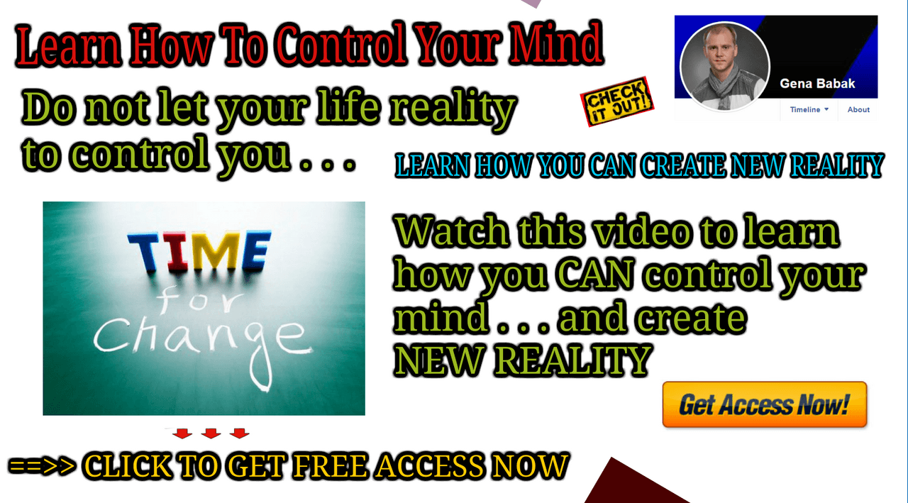 Watch how you can change your reality