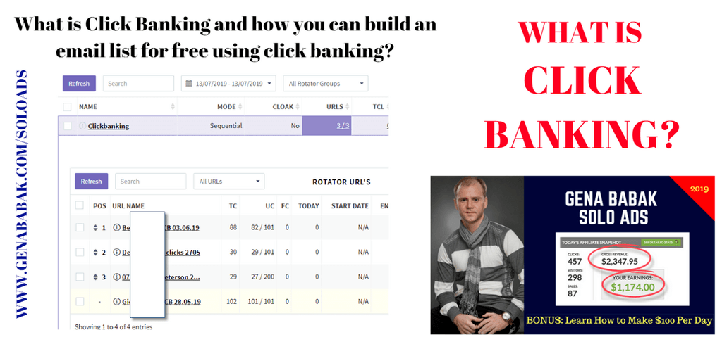 What is Click Banking and how you can build an email list for free using click banking?