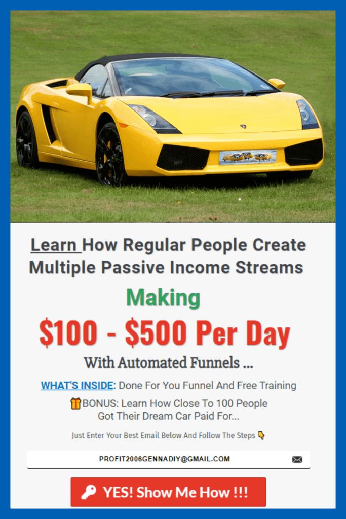 Learn how you can win a Ferrari and create passive income stream