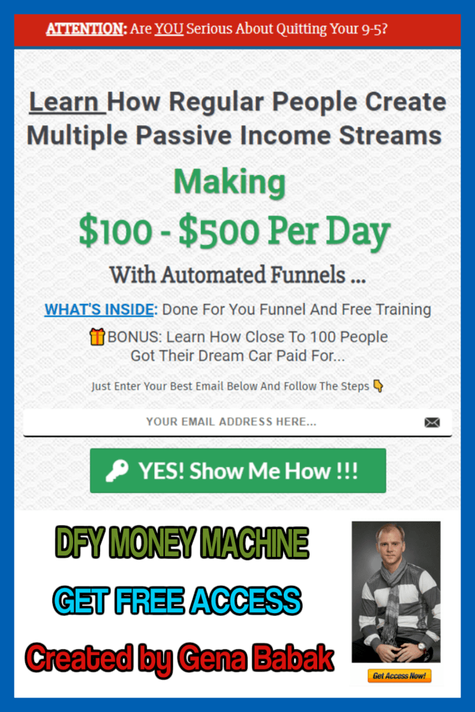 Use profit funnel created by Gena Babak to start making money online with affiliate marketing and clickfunnels affiliate program